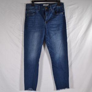 WIT & WISDOM Crop Distressed Skinny Jeans  (M56C)